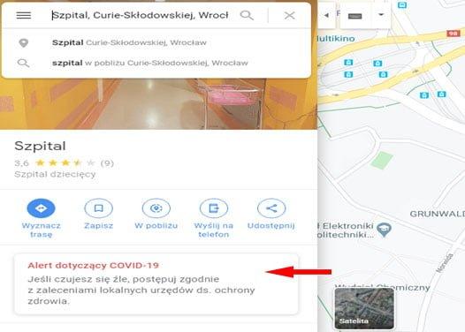 Google Maps kontra koronawirus